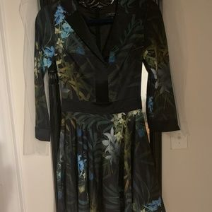 Ted Baker London 3/4 Sleeve Cocktail Dress, Size 0